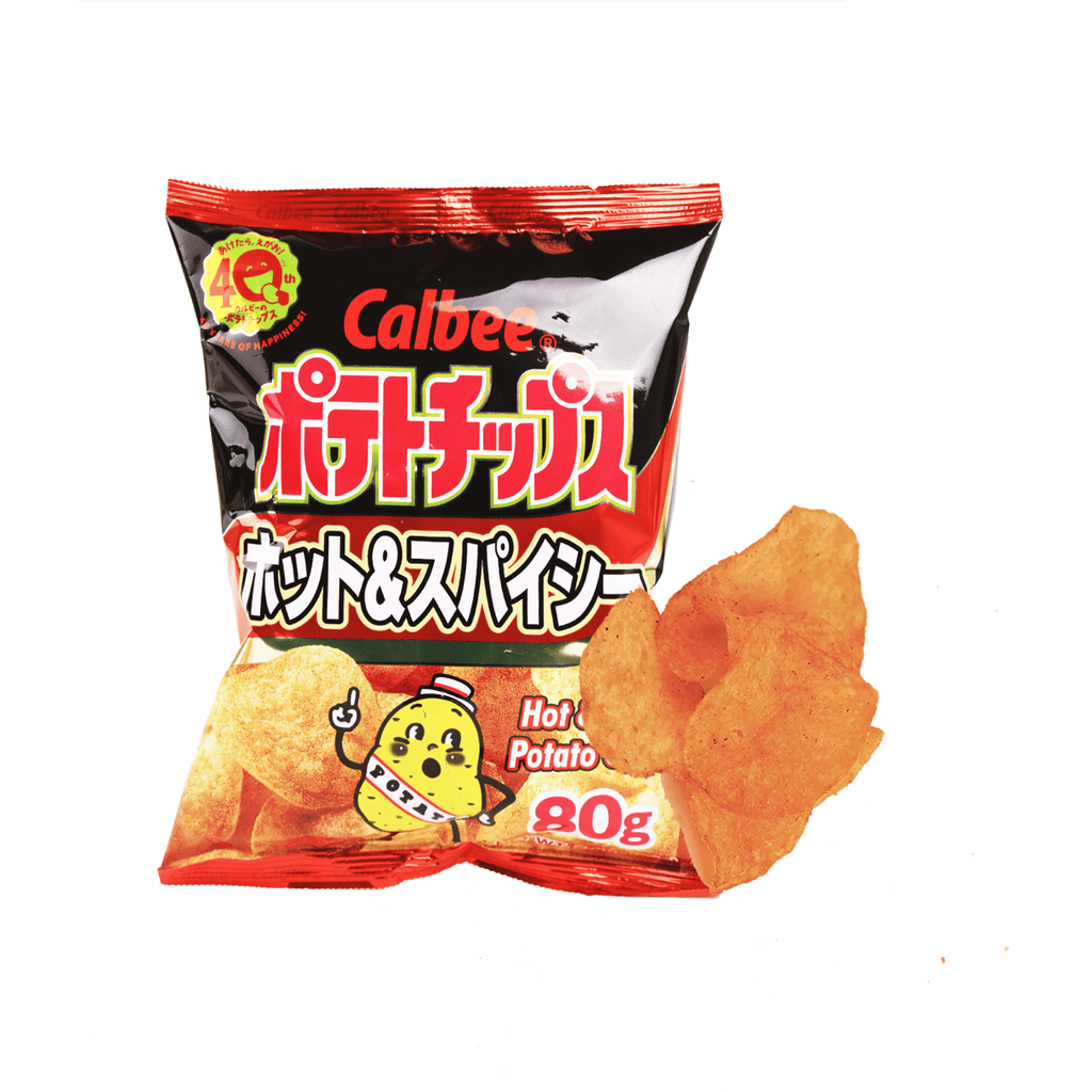 Calbee Hot&Spicy Potato Chips - 80g Snackoo