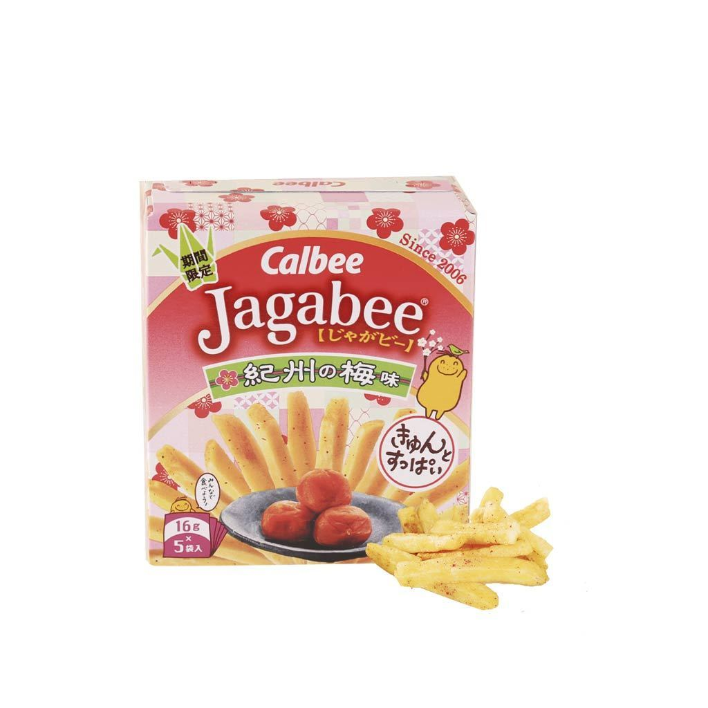 Calbee Jagabee Kishu Plum Fries - 5 PCS Snackoo