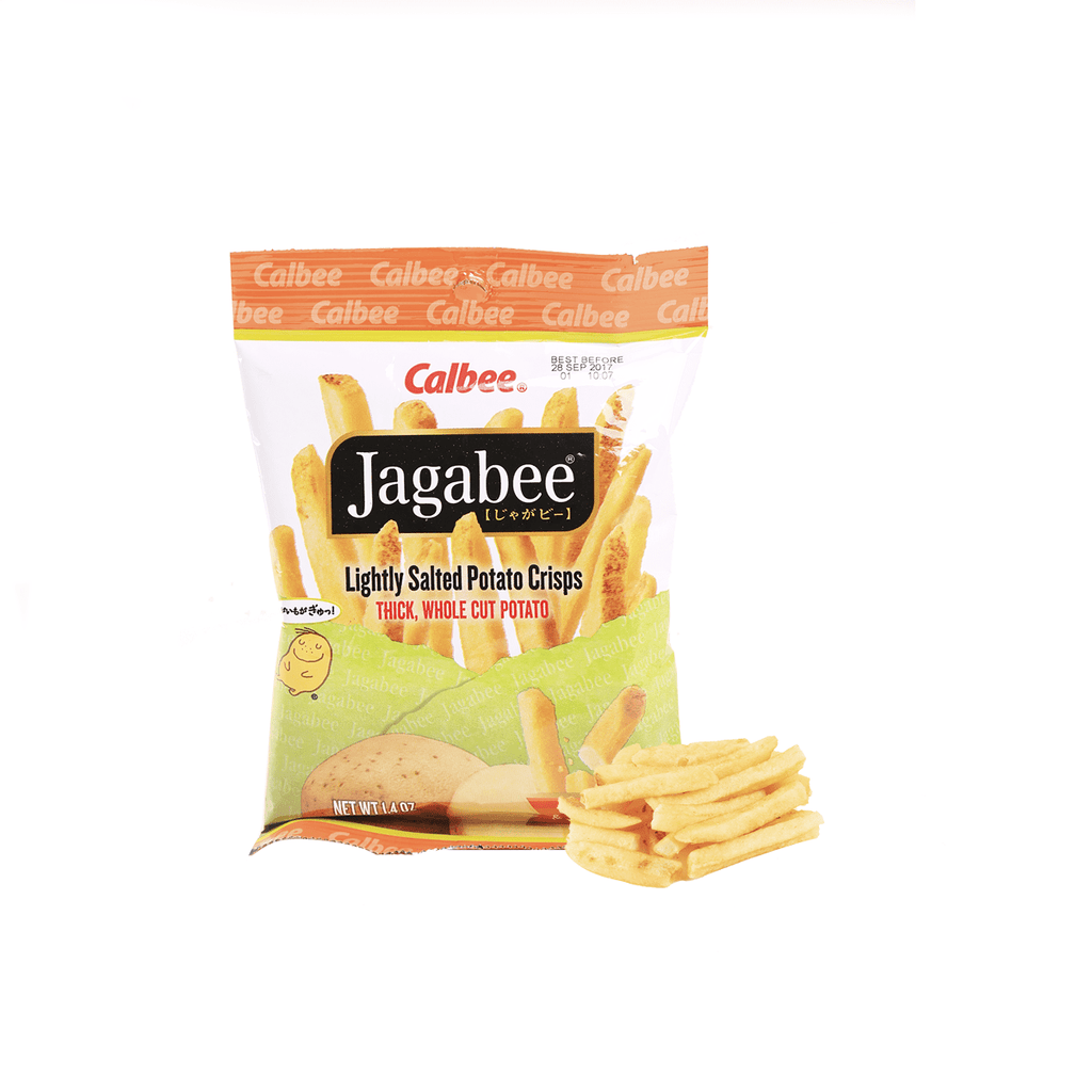 Calbee Jagabee  Lightly Salted Potato Crips - 39g Snackoo