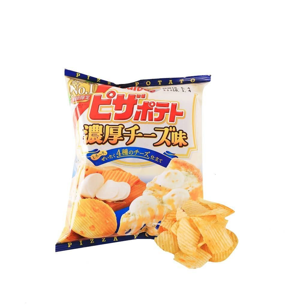 Calbee Potato Chips Pizza with Rich Cheese Taste [Limited] Snackoo