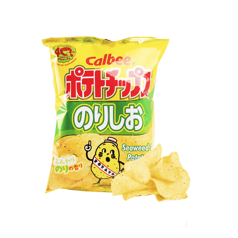 Calbee Seaweed & Salt Potato Chips - 80g Snackoo