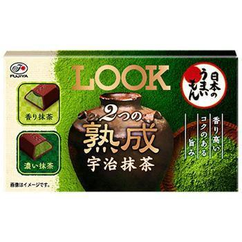 Fujiya Look Chocolate Matcha 2 Types of Flavored and Bitter 12pc(44g) Snackoo