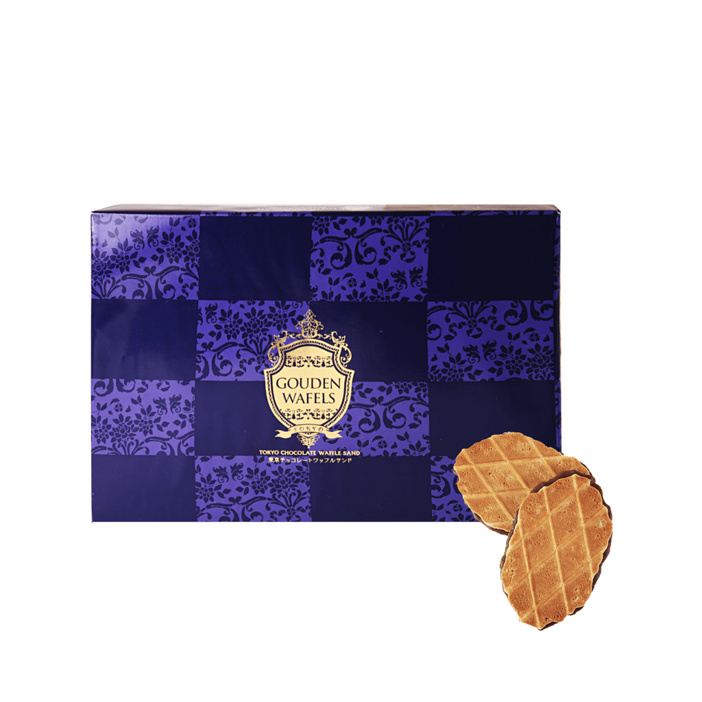 Gouden Wafels Tokyo Chocolate Waffle Sand - 12 PCS Snackoo