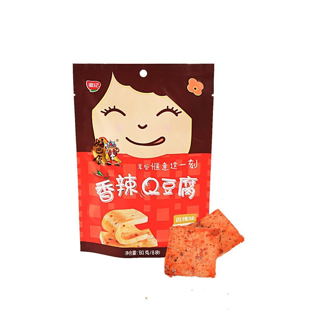 HBS Q Dried Spicy Bean Curd - 8 PCS Snackoo