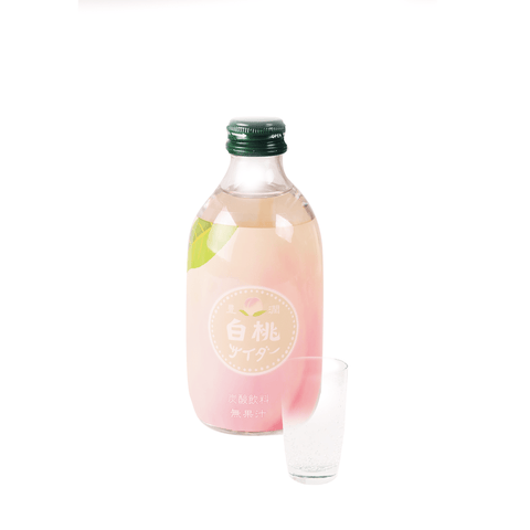 Hojyun White Peach Soda Drink - 300ml Snackoo