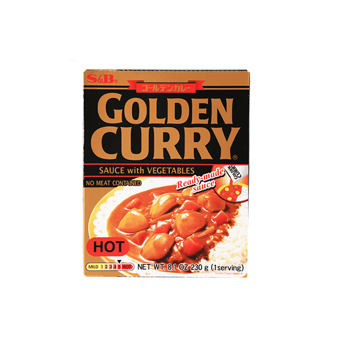 Hot Golden Curry with Vegetables - 230g Snackoo