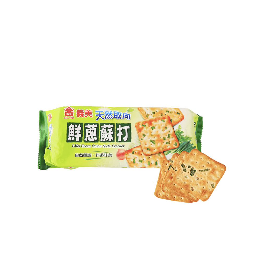 I-MEI Green Onion Soda Cracker - 140g Snackoo