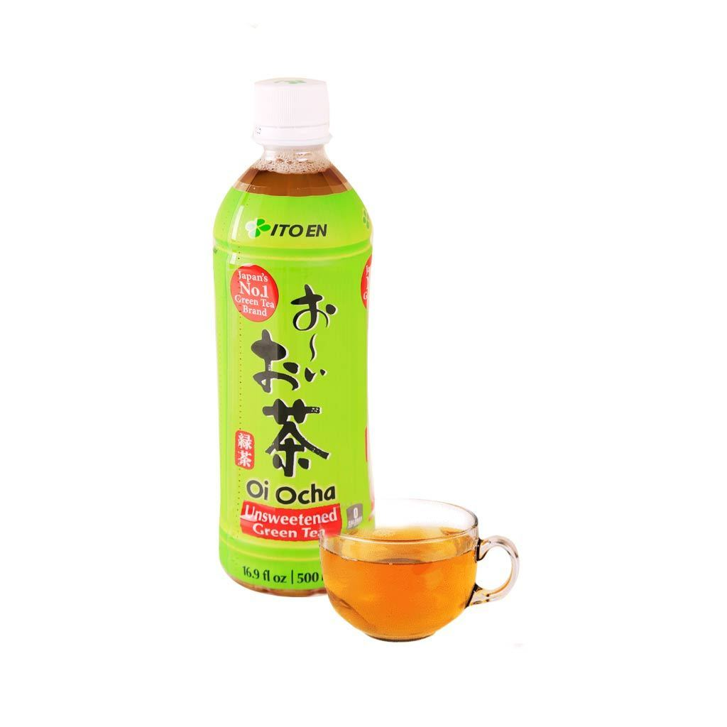Ito En Unsweetened Green Tea - 500ml Snackoo