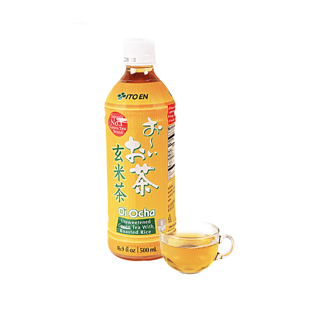 Itoen Unsweetened Green Tea With Roasted Rice - 500ml Snackoo