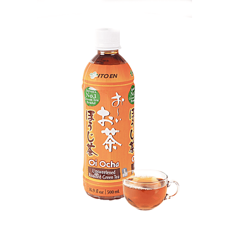 Itoen Unsweetened Roasted Green Tea - 500ml Snackoo
