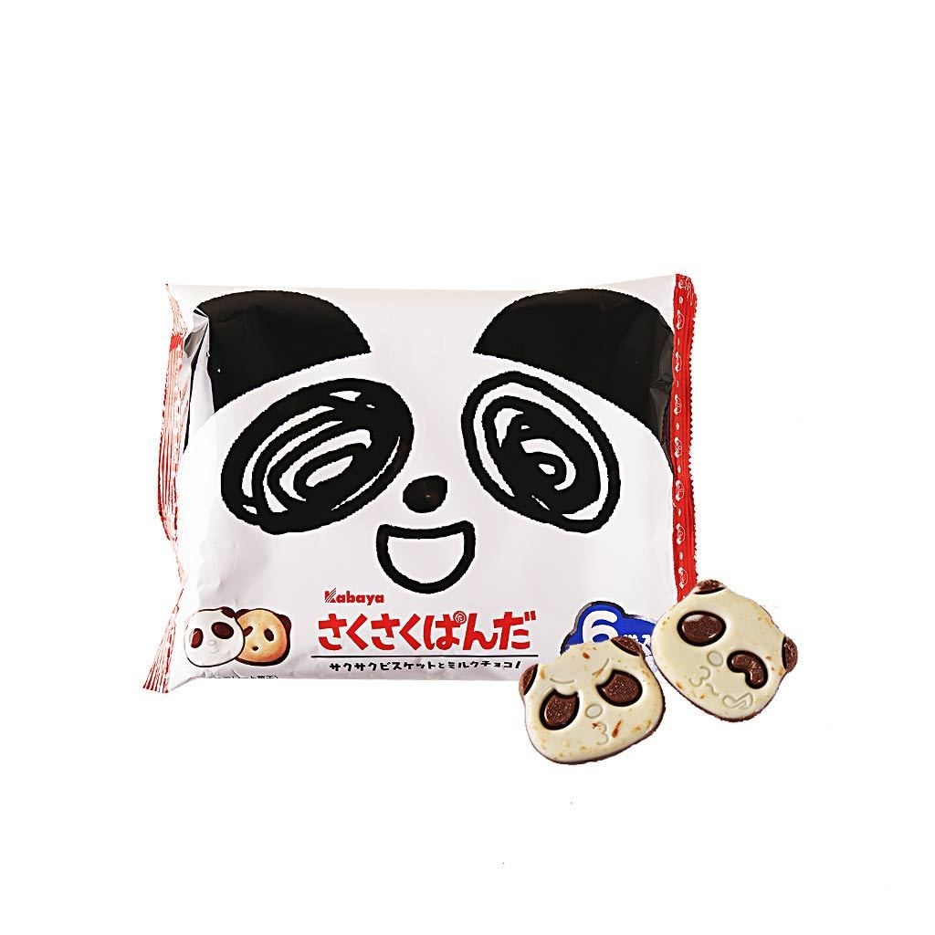 Kabaya Chocolate Covered Panda Biscuit - 6 Bags Snackoo