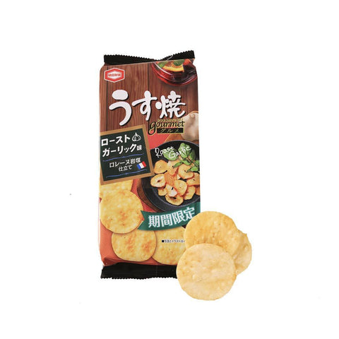 Kameda Cracker Roast Garlic Taste - 3 Bags Snackoo