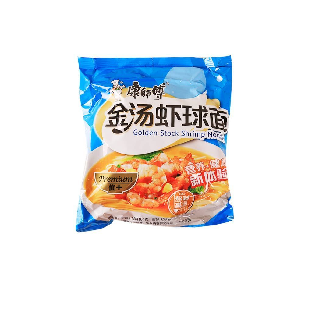 Kangshifu Golden Stock Shrimp Instant Noodles - 1 Bag Snackoo