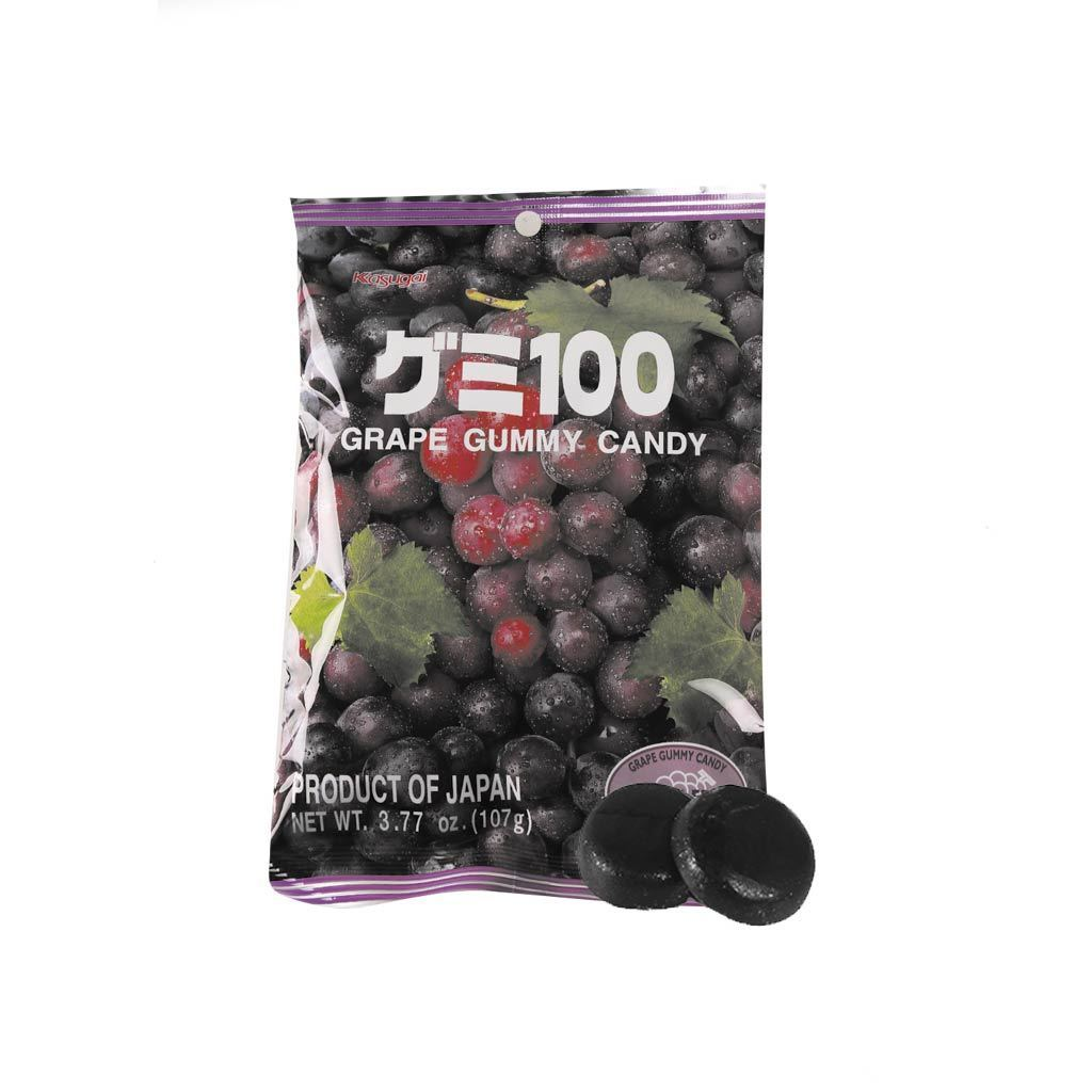Kasugai Grape Gummy Candy - 102g Snackoo