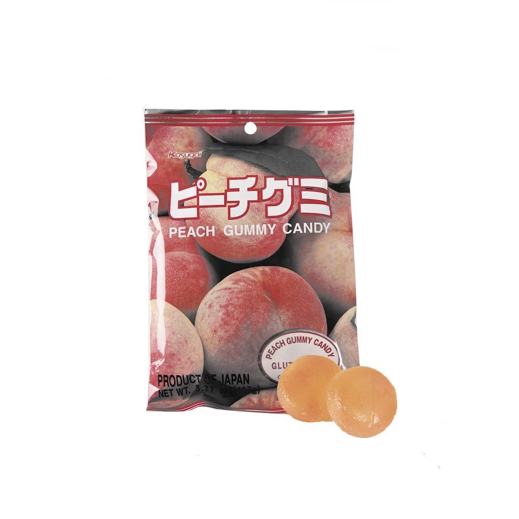 Kasugai Peach Gummy Candy - 102g Snackoo