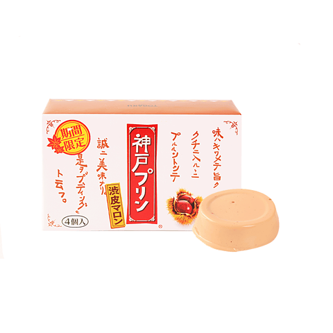 Kobe Pudding Chestnut - 4 PCS Snackoo