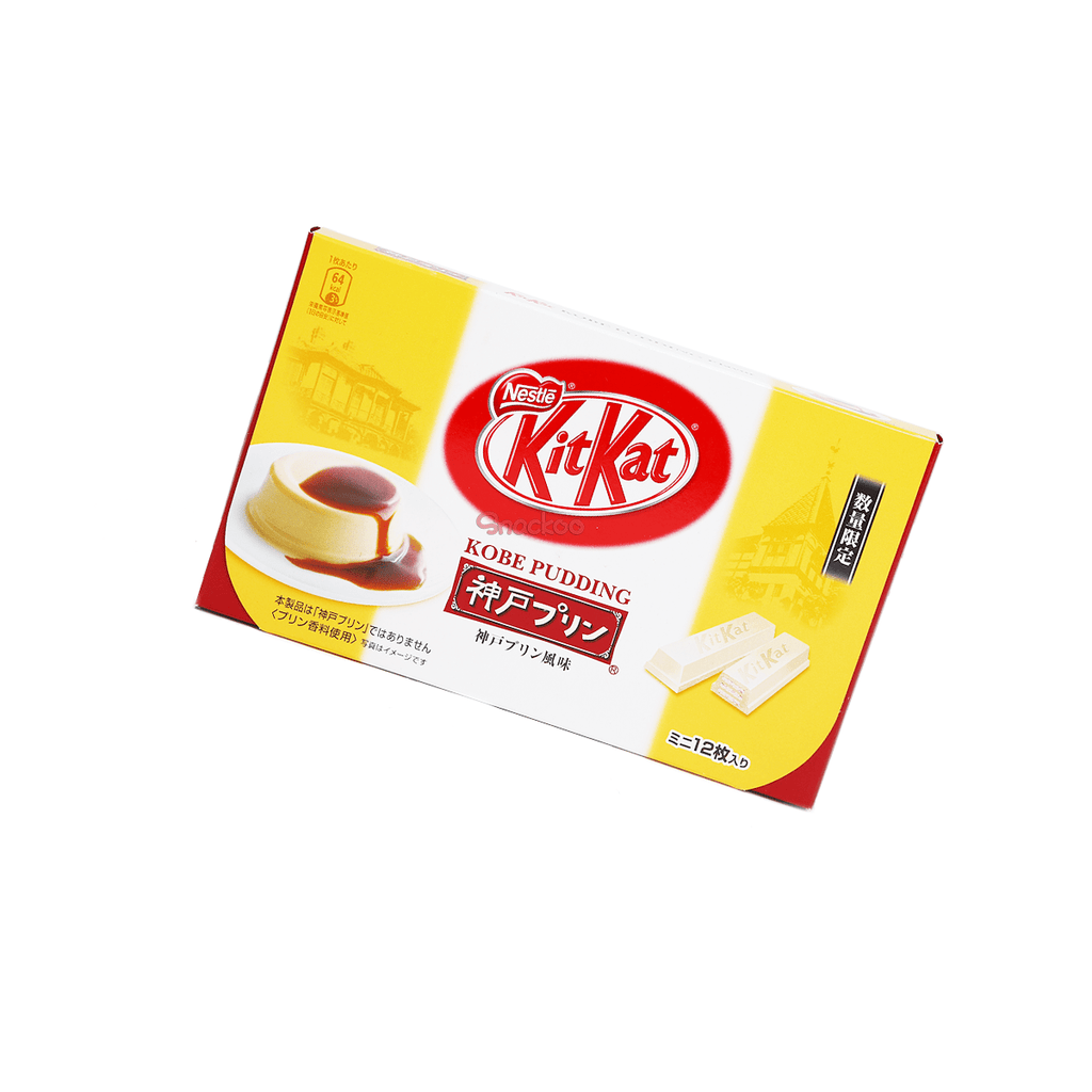 Kobe Pudding Kit Kat - 12 PCS Snackoo