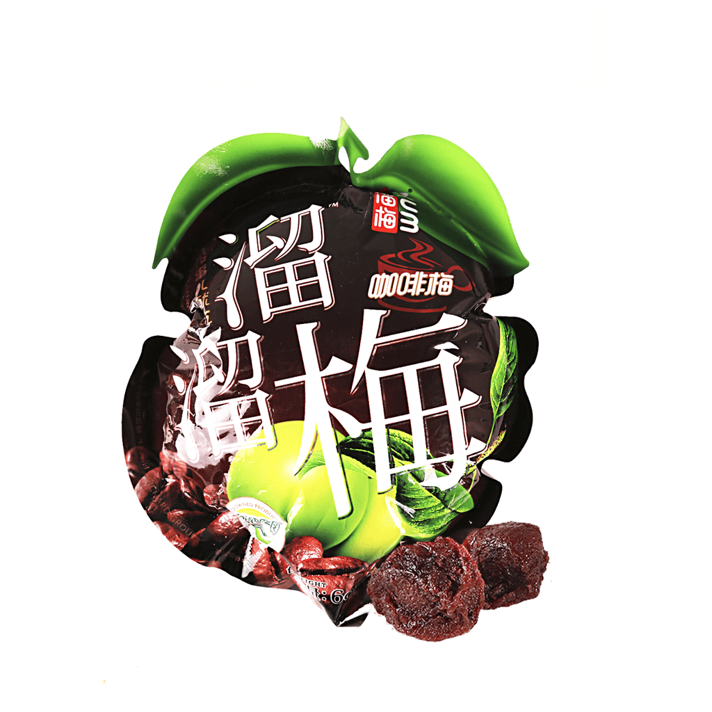 Liu Liu Coffee Flavored Plum - 60g Snackoo