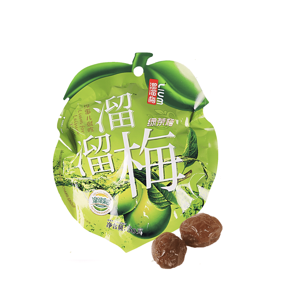 Liu Liu Green Tea Flavored Plum - 60g Snackoo
