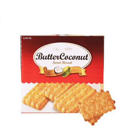 Lotte Butter Coconut Sweet Biscuit - 300g Snackoo