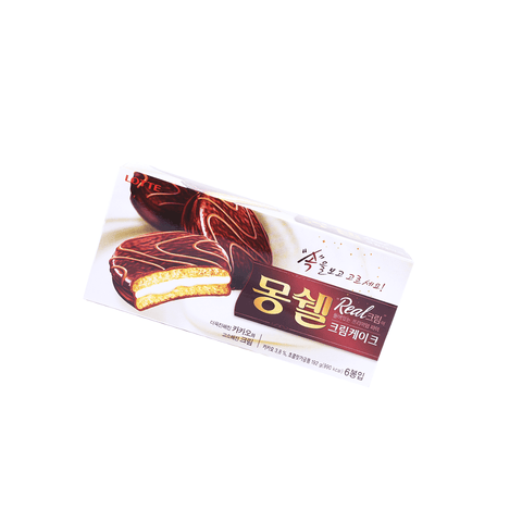 Lotte Cake Creamy Stuffed With Chocolate - 6 PCS Snackoo