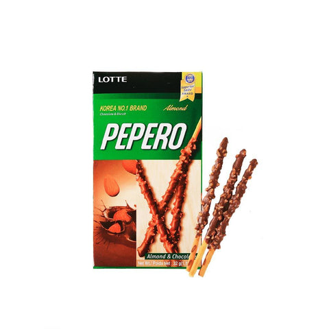 Lotte Pepero Chocolate&Almond Biscuit - 32g Snackoo