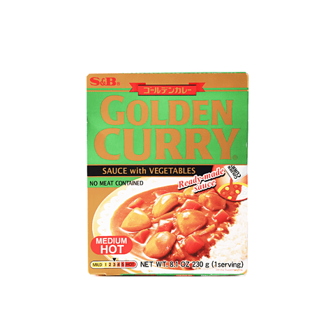 Medium Hot Golden Curry with Vegetables - 230g Snackoo