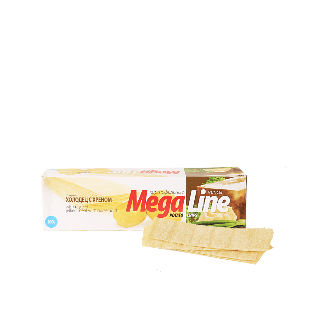 Mega Line Chips Jellied Meet Flavor - 100g Snackoo