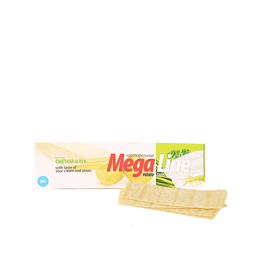 Mega Line Chips Sour Cream & Onion Flavor - 100g Snackoo