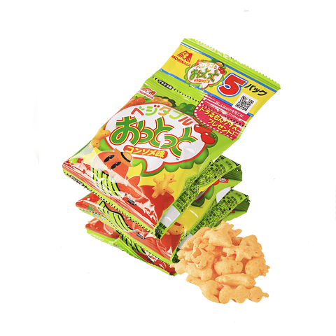 Morinaga Vegetable Cracker Consomme Taste - 5 Bags Snackoo