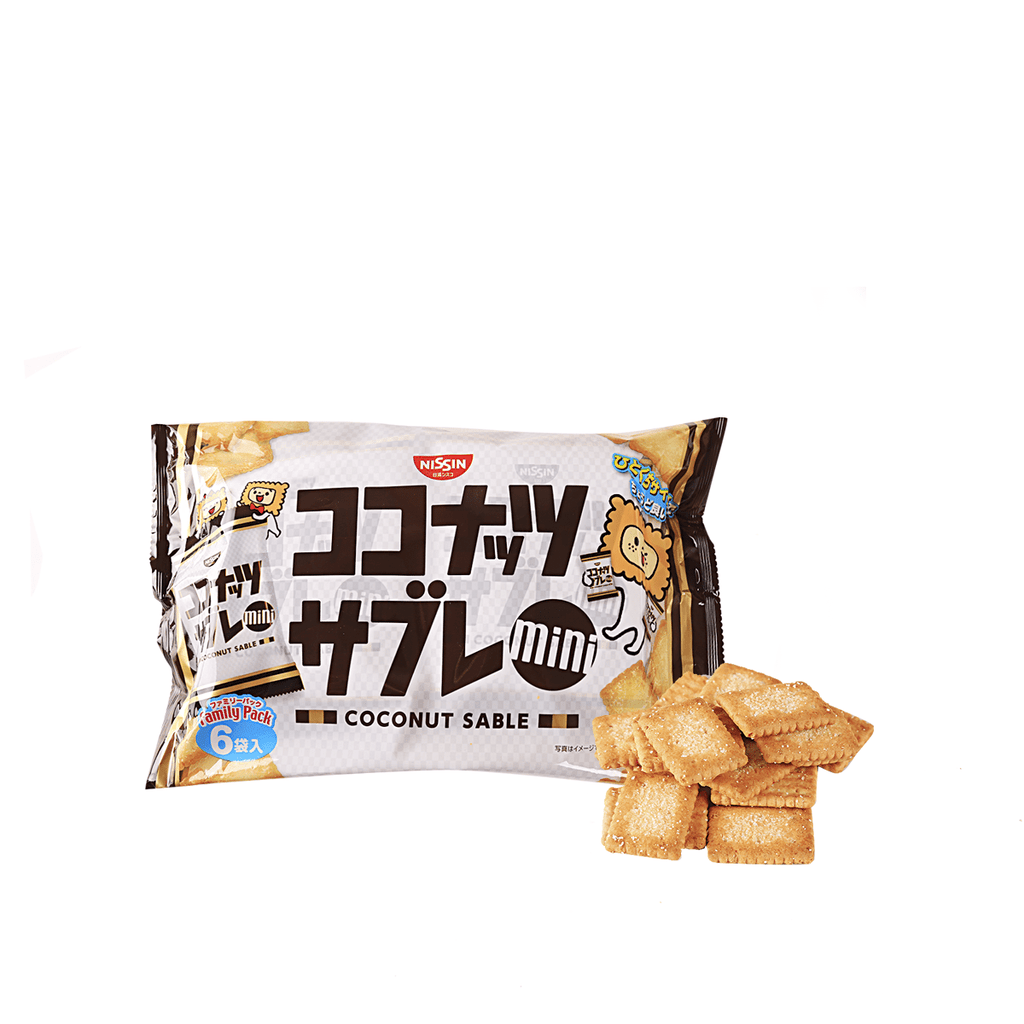 Nissin Mini Coconut Sable Biscuit - 6 PCS Snackoo