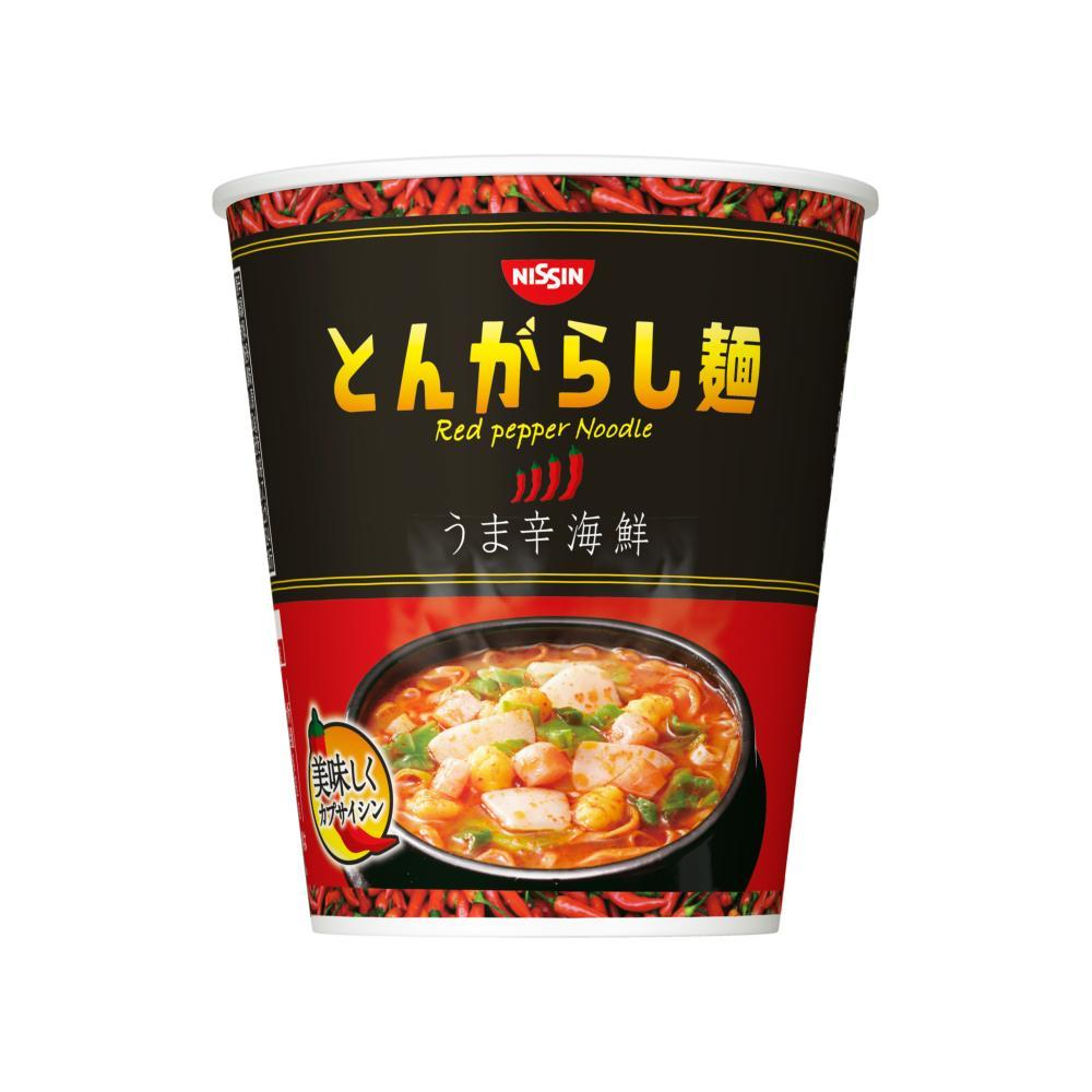 Nissin Spicy Seafood Red Pepper Instant Noodles Snackoo