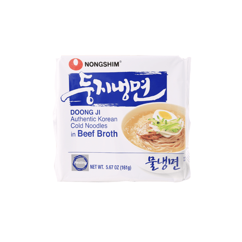Nongshim Authentic Korean Cold Noodles in Beef Broth - 161g Snackoo