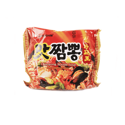 Nongshim Chanpong Noodles Soup Spicy Seafood Flavor 130g Snackoo
