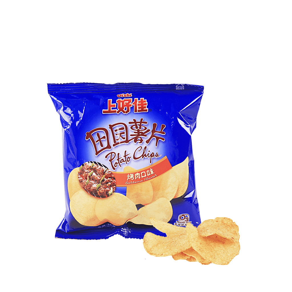 Oishi Potato Chips BBQ Flavor - 16g Snackoo
