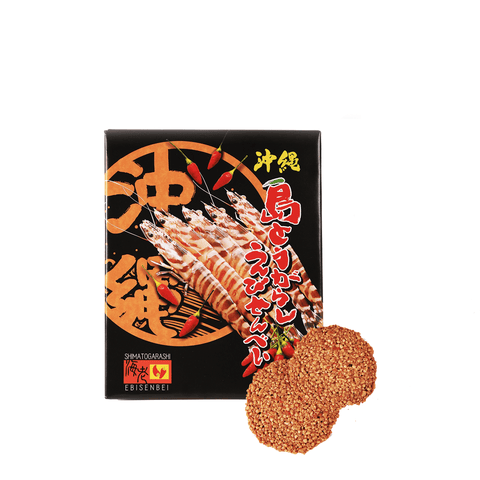Okinawa Chili Pepper Shrimp Rice Crackers - 18 PCS Snackoo