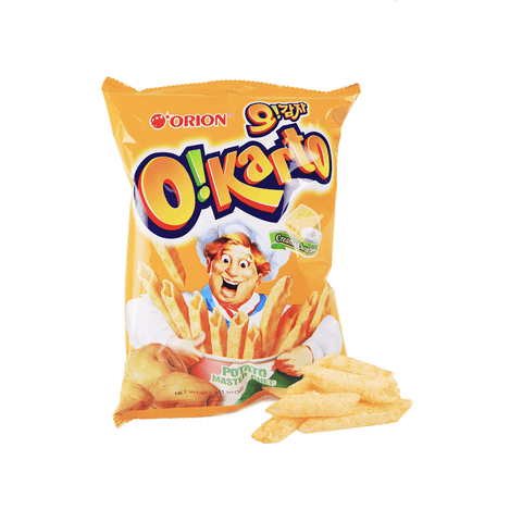Orion O!Karto Potato Chip Cream & Cheese - 50g Snackoo