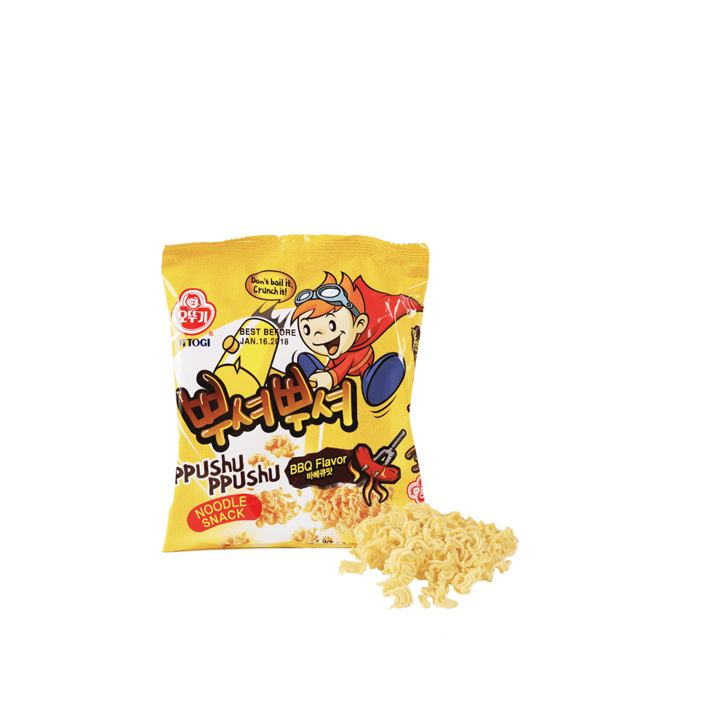 Ottogi Noodle Snack BBQ Flavor - 90g Snackoo