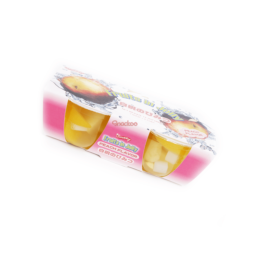 "Peach ""Fruits In Jelly"" Cup - 2 PCS Snackoo"