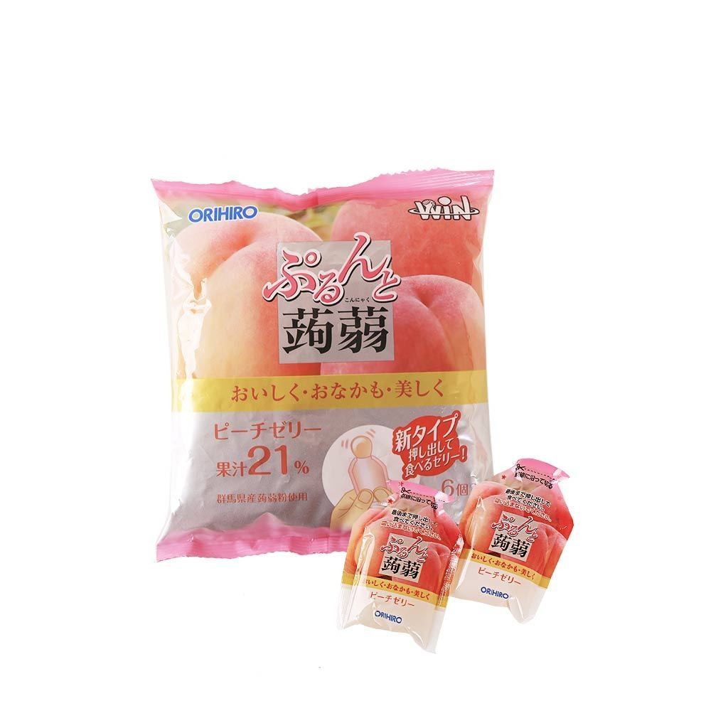 Peach Jelly Pouches - 6 PCS Snackoo