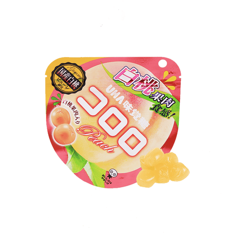 Premium Pure White Peach Gummy - 40g Snackoo