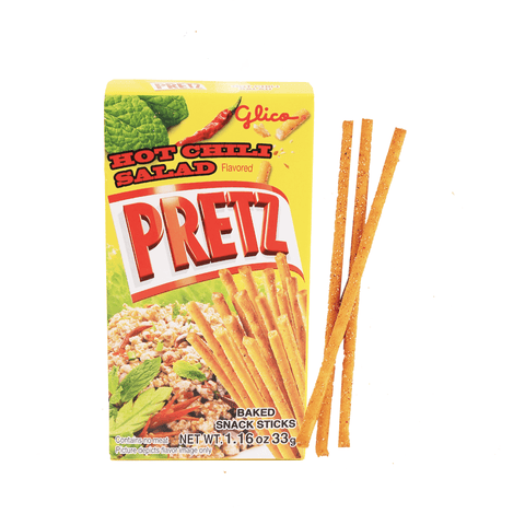 Pretz Hot Chili Salad Sticks - 33g Snackoo