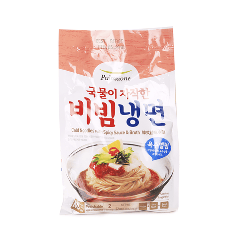 Pulmuone Cold Noodles with Spicy Sauce & Broth - 624g Snackoo