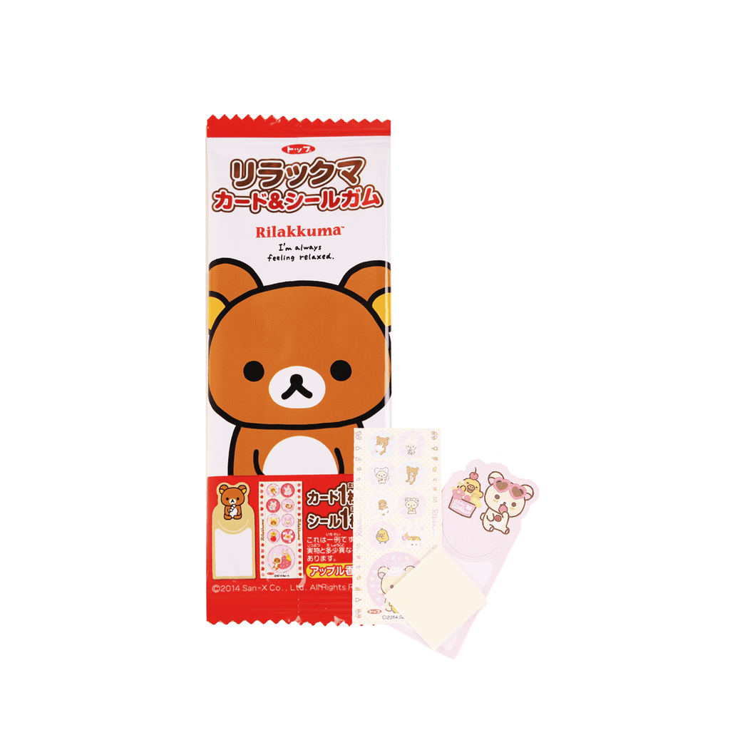 Rilakkuma Card & Seal Gum - 1 PC Snackoo