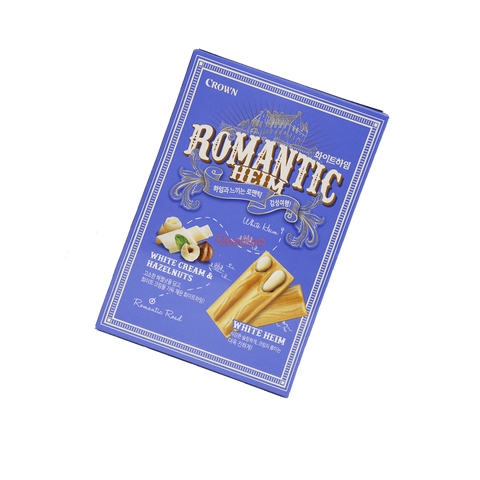 Romantic Heim White Cream Wafers with Hazelnuts - 142g Snackoo