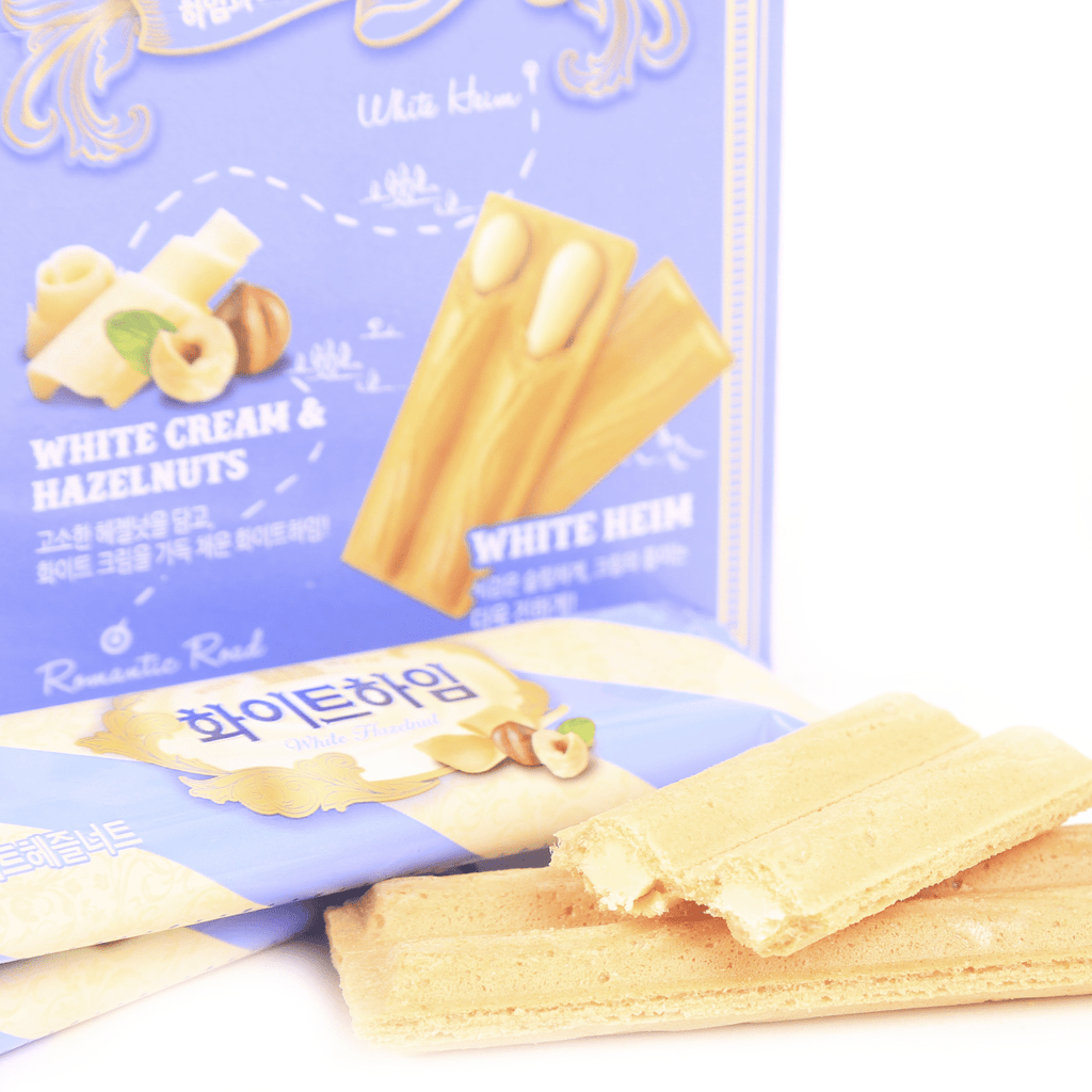 Romantic Heim White Cream Wafers with Hazelnuts - 47g Snackoo