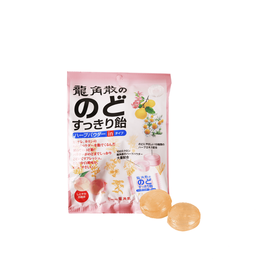 Ryukakusan Candy White Peach Herbal Taste - 80g Snackoo