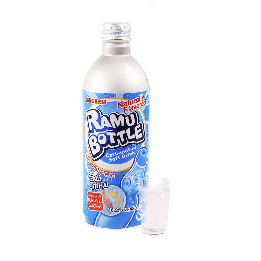 Sangaria Ramune Bottle Soft Drink - 480ml Snackoo