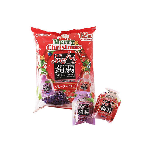 Strawberry & Grape Jelly Pouches [Christmas] - 12 PCS Snackoo