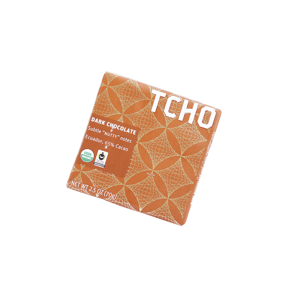 Tcho Dark Chocolate Nutty 65% Cacao - 70g Snackoo